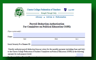 COPE Payroll Deduction Authorization