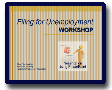 Filing for Unemployment Workshop